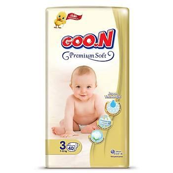 Goon Premium Bebek Bezi 3 Beden 7-12 Kg 40lý Jumbo Paket