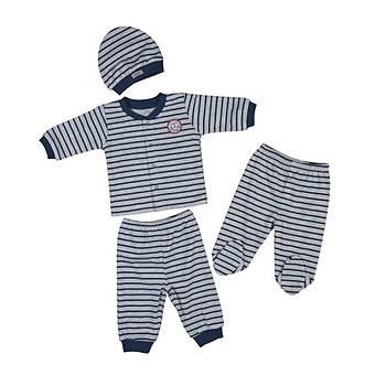 Bebepan Pijama Takýmý Mr.Owl Kalýn Ringel Orijinal 6-9 Ay