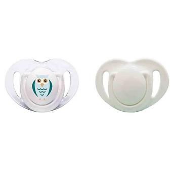 Mamajoo Ortodontik Silikon Emzik 2li 0+ Ay Baykuþ Beyaz