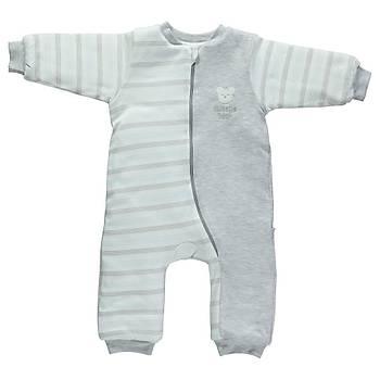 Bebetto Uyku Tulumu Penye Baby Bear Gri Melanj  24-36Ay