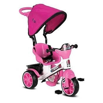 Babyhope Bobo Tenteli Ýtmeli Bisiklet Pembe