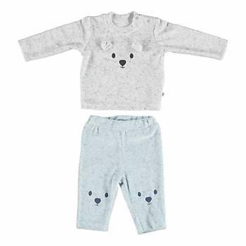Bibaby 2li Takým Small Bear Ekru - Mavi 6-9 Ay