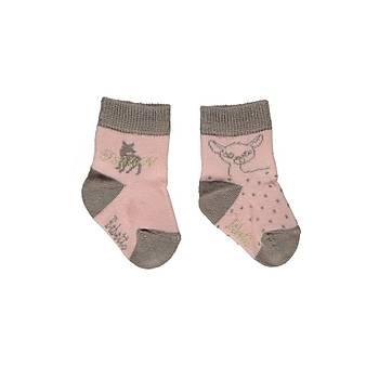 Bebetto Çorap Soket 2li Somon  0-6 Ay