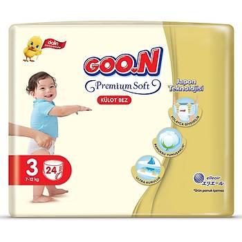 Goon Premium Külot Bebek Bezi 3 Beden 7-12 Kg 24lü Eko Paket
