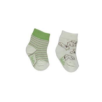 Bebetto Çorap Soket 2li Yeþil  6-12 Ay
