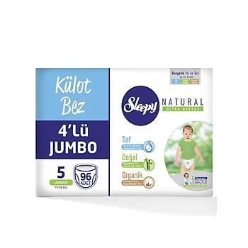 Sleepy Natural Külot Bebek Bezi 5 Beden 11-18 kg 96lý Jumbo Paket