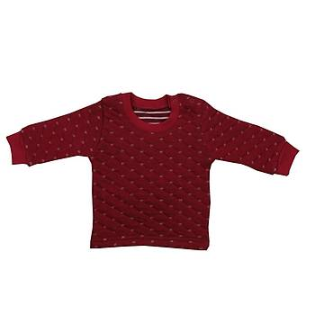 Mini Ropa Sweatshirt Kapitone Bordo  12-18Ay