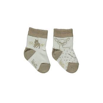 Bebetto Çorap Soket 2li Ekru  0-6 Ay