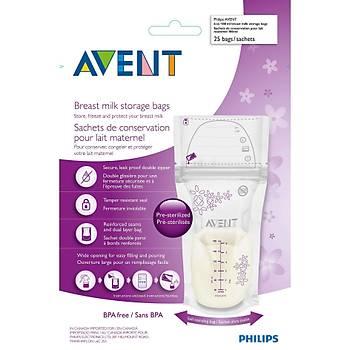 Philips Avent SCF603/25 Anne Sütü Saklama Poþetleri 25x180 ml