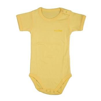 Bebepan Body Kýsa Kol Açýk Sarý  12-18Ay