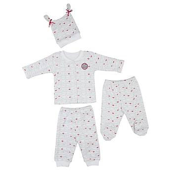 Bebepan Pijama Takýmý Mrs.Owl Emprime Puantiyeli 6-9 Ay