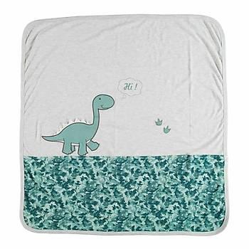 Bibaby Battaniye Bimini Dinosaur Mavi
