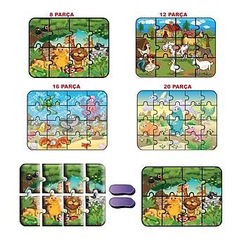 Hayvanlar Süper Renkli Puzzle