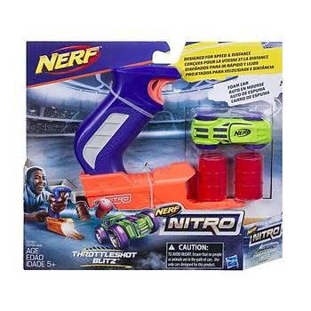 Nerf Nitro Throttleshot Blitz Yeþil Araba