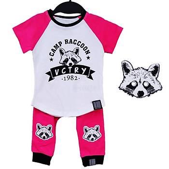 Baby Cool 2li Takým Maskeli Raccoon Fuþya  9 Ay