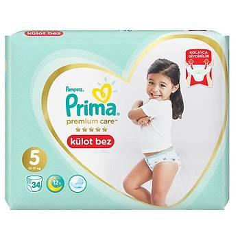Prima Premium Care Külot Bebek Bezi 5 Beden Junior 12-18 Kg 34lü