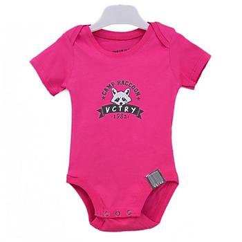 Baby Cool Body Kýsa Kol Raccoon Fuþya  6 Ay