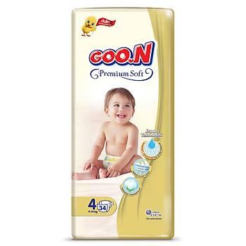 Goon Premium Bebek Bezi 4 Beden 9-14 Kg 34lü Jumbo Paket