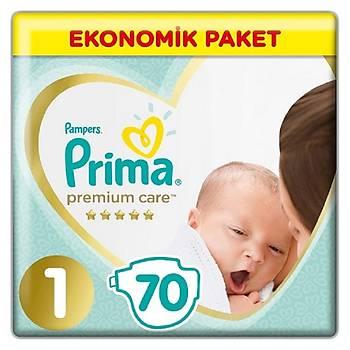Prima Premium Care Bebek Bezi 1 Beden Yenidoðan 70li Ekonomik Paket