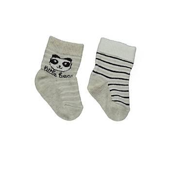 Bebetto Çorap Soket 2li Bej  6-12 Ay
