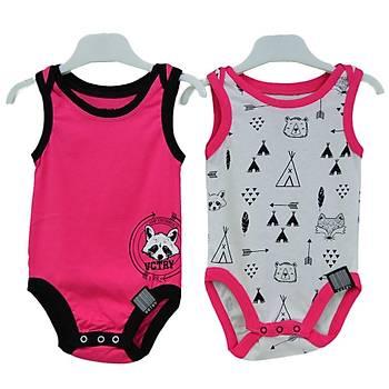 Baby Cool Body Atlet 2li Raccoon Fuþya  6 Ay