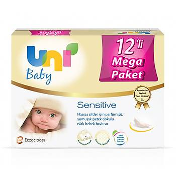 Uni Baby Sensitive Islak Havlu 12x56lý