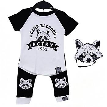 Baby Cool 2li Takým Maskeli Raccoon Siyah  3 Ay