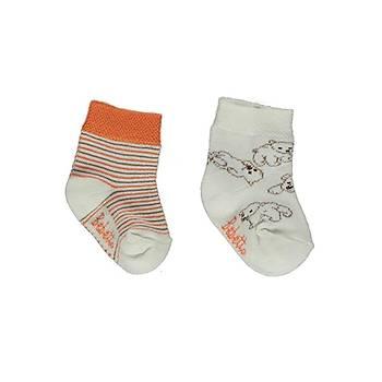 Bebetto Çorap Soket 2li Turuncu  0-6 Ay