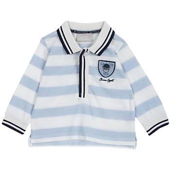 Chicco T-Shirt Uzun Kol Polo Yaka Mavi  9 Ay