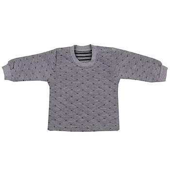 Mini Ropa Sweatshirt Kapitone Gri  Gri  3-6 Ay