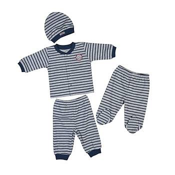 Bebepan Pijama Takýmý Mr.Owl Kalýn Ringel 3-6 Ay