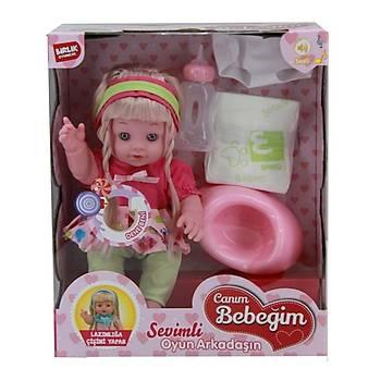 Çiþini Yapan Örgülü Lazýmlýklý Bebek 35 Cm