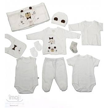 Ýmaj Baby Organik Hastane Çýkýþý 10lu Aslanlý