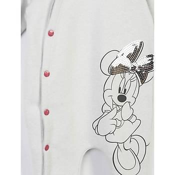 Minnie Mouse Tulum Patikli Yandan Çýtçýtlý Gri  0-3 Ay