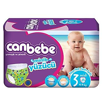Canbebe Swimmers Mayo Bebek Bezi 3 Beden 4-9 Kg 13lü