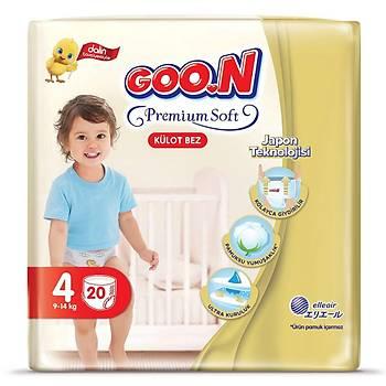 Goon Premium Külot Bebek Bezi 4 Beden 9-14 Kg 20li Eko Paket