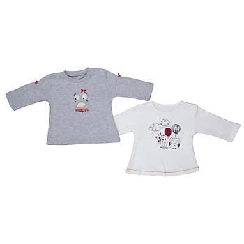 Bebepan Sweatshirt 2li Mrs.Owl Orjinal Orijinal 3-6 Ay