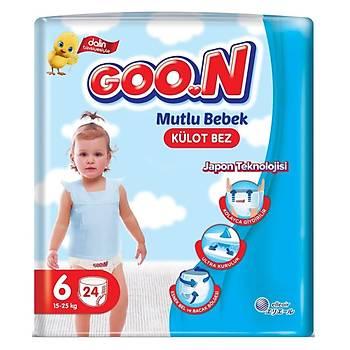 Goon Mutlu Bebek Külot Bebek Bezi 6 Beden 15-25 Kg 24lü Jumbo Paket