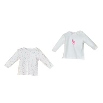 Andy Wawa T-Shirt 2li Puppies Gazelle Ekru  12 Ay