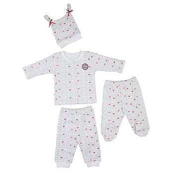 Bebepan Pijama Takýmý Mrs.Owl Emprime Puantiyeli 0 ay