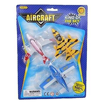 Mini Uçak Renkli 3'lü