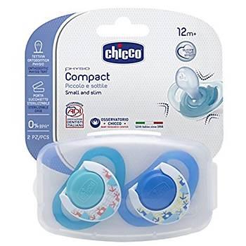 Chicco Physio Compact Silikon Emzik 2li 12+ Ay Erkek