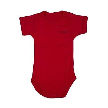 Bebepan Body Kýsa Kol Kýrmýzý  12-18Ay