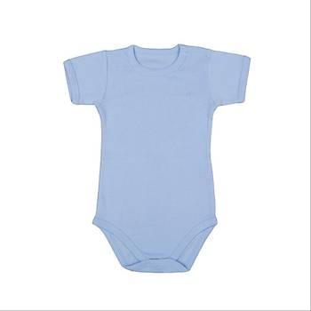 Bebepan Body Kýsa Kol Mavi  12-18Ay