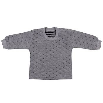 Mini Ropa Sweatshirt Kapitone Gri  Gri  12-18Ay