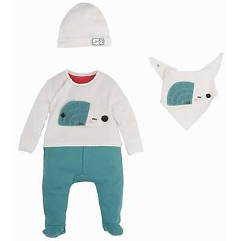 Ýdil Baby Tulum 3lü Yeþil  0-3 Ay