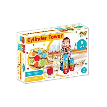 Furkan Toys 3 Ýn 1 Silindir Kule