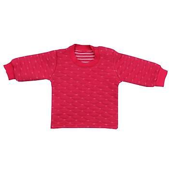 Mini Ropa Sweatshirt Kapitone Fuþya  12-18Ay