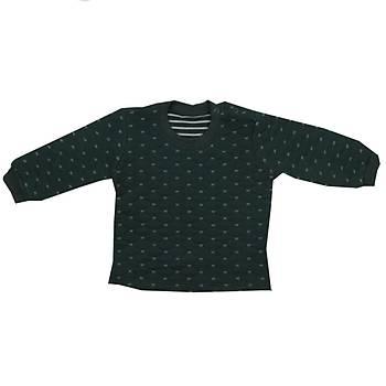 Mini Ropa Sweatshirt Kapitone Yeþil  0-3 Ay
