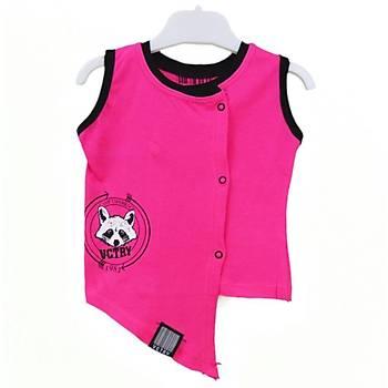 Baby Cool Yelek Raccoon Fuþya  3 Ay